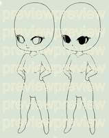 P2U Chibi Adoptable Base [200 pts] by dollywitchadopts