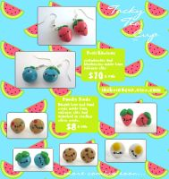 Kawaii Clay Earrings by cutesubmarine