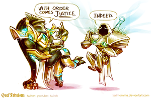 Tea Time with Tassadar and Tyrael by Katmomma
