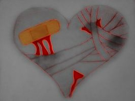 Broken Heart Bandaged by sweetangel561