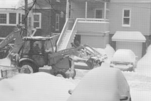 2015 February Snow Storm, BullDozing the Snow 2 by Miss-Tbones