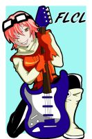 FLCL Haruko print version 2 by bluepen731