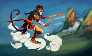 Sun Wukong the Monkey King by funzee