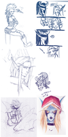 WoW  small Sketch Dump I by RavenNoodle