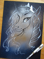 Metallic Artworks - Luna- portrait by CasyNuf