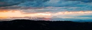 Sunset over the mountains by BenTich