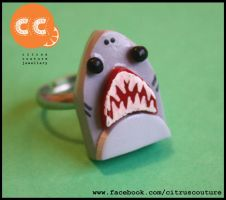 Great White Shark ring by citruscouture
