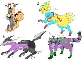 Fakemon Adoptables 2 [Closed] by Squidoptables