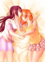 Honoka x Umi by xox1melly1xox