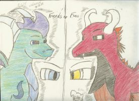 Friends or Foes - Gift to CaSf by BullSwag