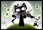 The cat and his fiddle by raven8t8