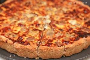 Mushroom and Bacon Quiche 1 by patchow