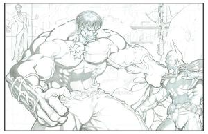 Hulk versus the Batman by sunny615