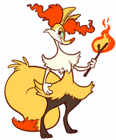 Braixen by CrazyRatty