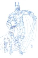 Batman n Catwoman pencils by ejimenez