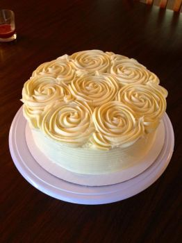 Banana Creme Cake by Deathbypuddle