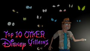 Top 10 OTHER Disney Villains by AniMat505