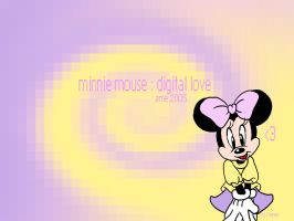minnie mouse digital love by angelsunbomb