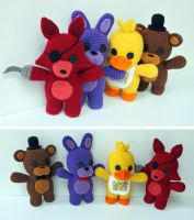 Five Nights At Freddy's Group by MilesofCrochet