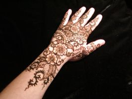 Floral Henna - Paste On by inkeyling