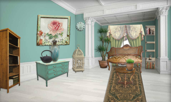 Turquoise furnished by MirjamPenning
