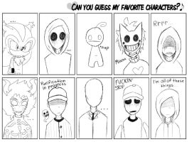 :.Guess my Favorite Characters.: by Mr-Speckles