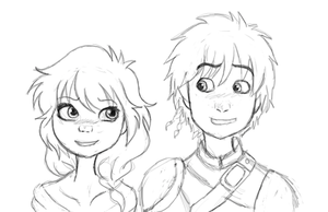 Don't afraid with a vicking-8th Leader and Hiccup by AskGumballAndAeryn