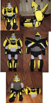 Bumblebee Plushie by Dragon-Star-Empress