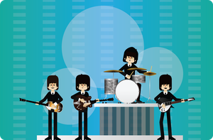 Beatles 1964 by GuillermoVA