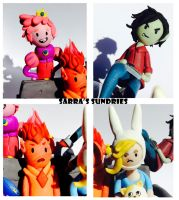 It's Game Time! Fionna and Cake Sculpture (Close) by SarrasSundries