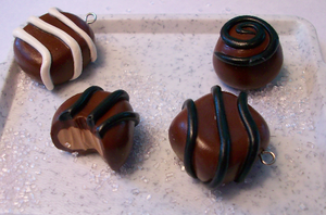 Chocolate Candy Charms by irken-girl322