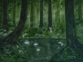 The Green Forest by SueMArt