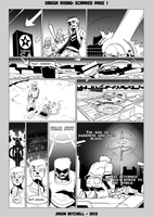 DU Comics: Scarred Page 1 by VexusVersion