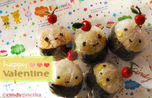 Valentine's Onigiri by StrawberryStory