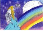 Angel in the rainbow by Gold-Cherry