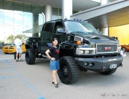Me and Ironhide by ladylucrezia