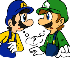 Luigi and Luigi XD by MariobrosYaoiFan12