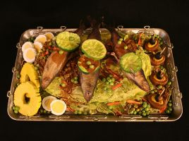 Fake Food - Fish Tray by Minnu