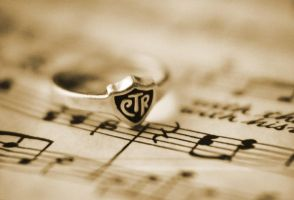 CTR Ring on Sheet Music by uplink333