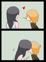 Pocky are gross let me eat you instead by Elevera