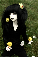 Muse and his chicks by BlackRoosje