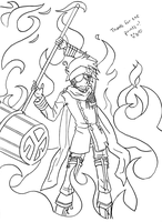 Lavi Lineart - Request by SakuraKeyblader78