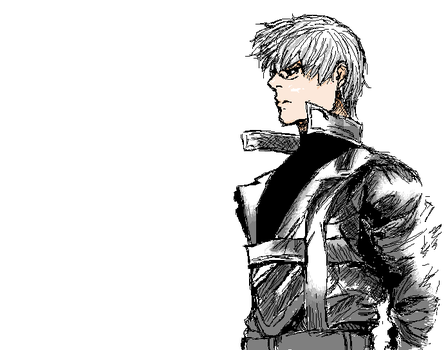 (old)Tokyo Ghoul:re in MS Paint II - Arima Kishou by chickiefootwo