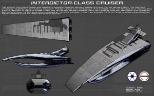Interdictor Class Cruiser ortho [new] by unusualsuspex