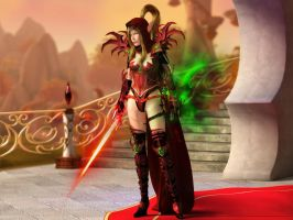 Blood elf Valeera by RosValeera