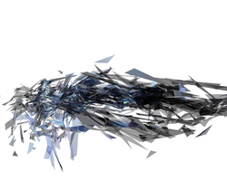 Blue Sheared Explosion C4D by KrazyKazza