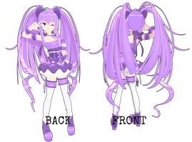MMD RxNxD OC Grape Front and Back View by RinXNeruXD