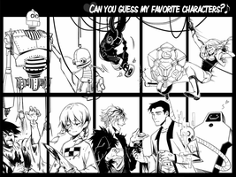 FAVORITE CHARACTERS by EvilApple513