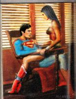 Superman and wonder woman 2 by dezz1977