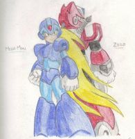 Mega Man and Zero by atdi198d